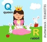 alphabet letter q queen r... | Shutterstock .eps vector #551603731