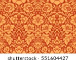 Stock vector vector seamless floral pattern in the style of damask 551604427