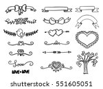 set of hand drawn vector banner ... | Shutterstock .eps vector #551605051