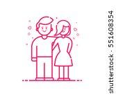 vector illustration of icon... | Shutterstock .eps vector #551608354