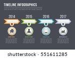timeline infographics template... | Shutterstock .eps vector #551611285