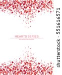 vector illustration heart in... | Shutterstock .eps vector #551616571