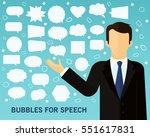 bubbles of speech concept...   Shutterstock .eps vector #551617831
