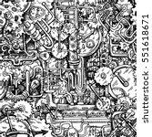 steampunk style illustration... | Shutterstock .eps vector #551618671