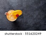 tequila sunrise cocktail on...   Shutterstock . vector #551620249