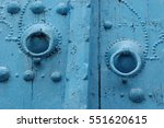 Traditional Blue Arched Door...