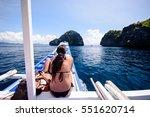 heading for an island adventure ... | Shutterstock . vector #551620714