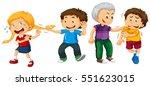 boys bullying little kids... | Shutterstock .eps vector #551623015