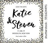 gold glitter background polka... | Shutterstock .eps vector #551624491