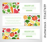 template design horizontal... | Shutterstock .eps vector #551627659