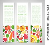 template design vertical banner ... | Shutterstock .eps vector #551627665
