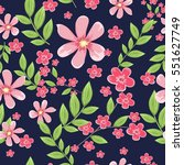 vector seamless pattern with... | Shutterstock .eps vector #551627749
