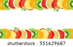 fruits. mixed slices. fresh... | Shutterstock . vector #551629687