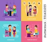 beauty procedures template with ... | Shutterstock .eps vector #551631055