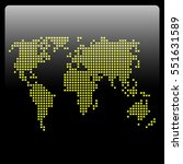 vector map of world with dots ... | Shutterstock .eps vector #551631589