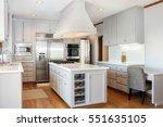 white   grey kitchen with... | Shutterstock . vector #551635105