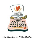 hand drawn  vector card with... | Shutterstock .eps vector #551637454