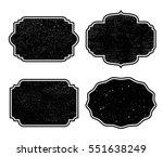 vector vintage labels.grunge... | Shutterstock .eps vector #551638249