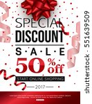 special discount sale with red...
