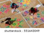 hyderabad india january 8 hindu ... | Shutterstock . vector #551643049