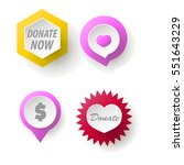 donate button collection. set...