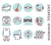 bathroom icons set. vector... | Shutterstock .eps vector #551643265