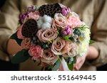 the bride's bouquet | Shutterstock . vector #551649445