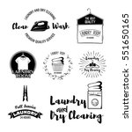 vector set of laundry labels ... | Shutterstock .eps vector #551650165