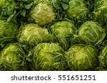 cabbage on display at market | Shutterstock . vector #551651251