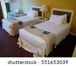 blur image of hotel room | Shutterstock . vector #551653039