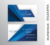 blue and white corporate... | Shutterstock .eps vector #551653954