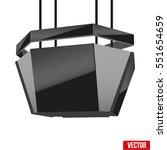 realistic indoor advertising... | Shutterstock .eps vector #551654659