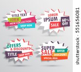 amazing sales banners... | Shutterstock .eps vector #551656081