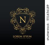 letter n logo design with... | Shutterstock .eps vector #551656189