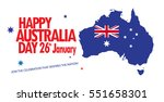 happy australia day 26th...   Shutterstock .eps vector #551658301