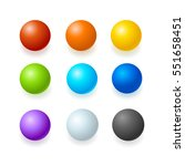 realistic color glossy spheres... | Shutterstock .eps vector #551658451