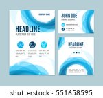 blank brand set card with... | Shutterstock .eps vector #551658595