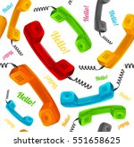 phone call background pattern... | Shutterstock .eps vector #551658625