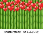 bamboo background with red... | Shutterstock .eps vector #551661019