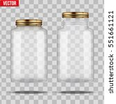 set of glass jars for canning... | Shutterstock .eps vector #551661121