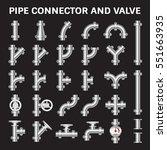 vector icon of steel pipe... | Shutterstock .eps vector #551663935