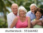 portrait of senior couples... | Shutterstock . vector #55166482