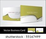 vector business card set  for... | Shutterstock .eps vector #55167499