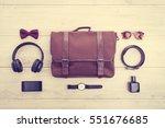 beautiful fashion set for men... | Shutterstock . vector #551676685