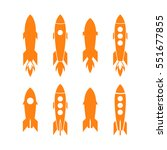 rocket icon and rocket... | Shutterstock .eps vector #551677855