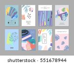 set of creative universal art... | Shutterstock .eps vector #551678944