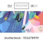 abstract creative header.... | Shutterstock .eps vector #551678959