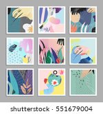 set of creative universal art... | Shutterstock .eps vector #551679004