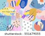 abstract creative header.... | Shutterstock .eps vector #551679055