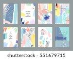 set of artistic creative... | Shutterstock .eps vector #551679715